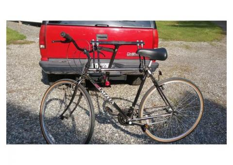 """2005 almost new swing down GRABER 2"""" bicycle rack."""